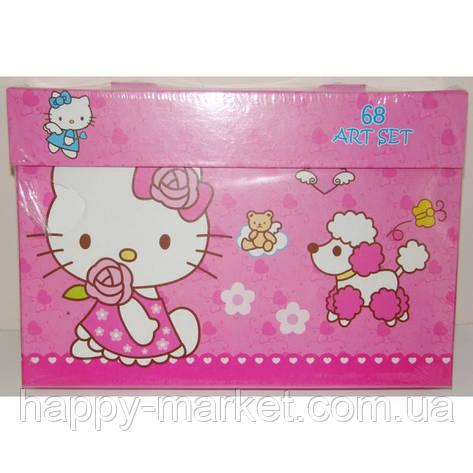 """Набор для детского творчества """"Kitty"""" (68 предметов) чемодан, фото 2"""
