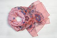 Шарф Саманта узкий, 100% вискоза, 50х180 см, розовый