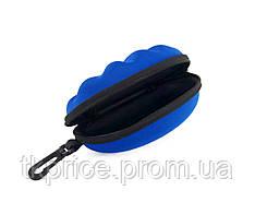 Футляр для  очков синий с карабином на молнии