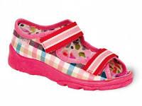 Детские польские текстильные тапочки-босоножки Befado MAX 969X065 р.25,26 для дома, улицы, в садик девочкам