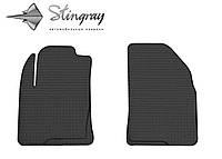 Резиновые коврики Stingray Стингрей Форд Фиеста 2002-2009 Комплект из 2-х ковриков Черный в салон. Доставка по всей Украине. Оплата при получении
