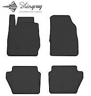 Резиновые коврики Stingray Стингрей Форд Фиеста 2009-2013 Комплект из 4-х ковриков Черный в салон. Доставка по всей Украине. Оплата при получении