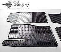 Резиновые коврики Stingray Стингрей Форд Фокус Си-Макс 2011- Комплект из 2-х ковриков Черный в салон. Доставка по всей Украине. Оплата при получении