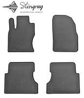 Резиновые коврики Stingray Стингрей Форд Фокус 2 2004-2011 Комплект из 4-х ковриков Черный в салон. Доставка по всей Украине. Оплата при получении