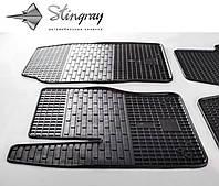Резиновые коврики Форд Фокус 3 2011- Комплект из 2-х ковриков Черный в салон. Доставка по всей Украине. Оплата при получении
