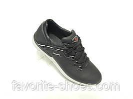 Кожаные мужские кроссовки Clumbia ч.сер 42