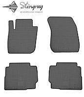 Резиновые коврики Stingray Стингрей Форд Мондео 2015- Комплект из 4-х ковриков Черный в салон. Доставка по всей Украине. Оплата при получении