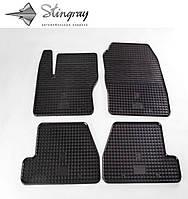 Резиновые коврики Форд Фокус 3 2011- Комплект из 4-х ковриков Черный в салон. Доставка по всей Украине. Оплата при получении
