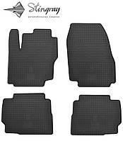 Резиновые коврики Stingray Стингрей Форд с-Макс 2007- Комплект из 4-х ковриков Черный в салон. Доставка по всей Украине. Оплата при получении