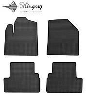 Резиновые коврики Stingray Стингрей Форд Транзит коннект 2009- Комплект из 4-х ковриков Черный в салон. Доставка по всей Украине. Оплата при получении