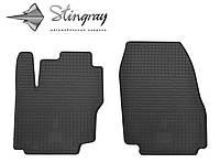 Резиновые коврики Форд Мондео 2013- Комплект из 2-х ковриков Черный в салон. Доставка по всей Украине. Оплата при получении