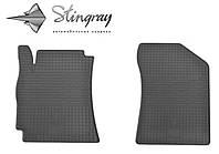 Резиновые коврики Джили МК Кросс 2010- Комплект из 2-х ковриков Черный в салон. Доставка по всей Украине. Оплата при получении