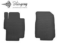 Резиновые коврики Хонда Аккорд 2003-2008 Комплект из 2-х ковриков Черный в салон. Доставка по всей Украине. Оплата при получении