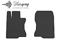 Резиновые коврики Хонда Аккорд 2008-2013 Комплект из 2-х ковриков Черный в салон. Доставка по всей Украине. Оплата при получении