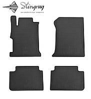 Резиновые коврики Stingray Стингрей Хонда Аккорд 2013- Комплект из 4-х ковриков Черный в салон. Доставка по всей Украине. Оплата при получении