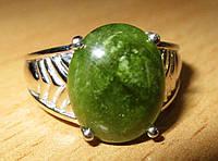 """Классический перстень """"Елка"""" с зеленым сапфиром , размер 17,3 студия LadyStyle.Biz"""