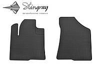 Резиновые коврики Хундай Санта-Фе 2006- Комплект из 2-х ковриков Черный в салон. Доставка по всей Украине. Оплата при получении
