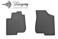 Резиновые коврики Stingray Стингрей КИА Серато 2009-2013 Комплект из 2-х ковриков Черный в салон