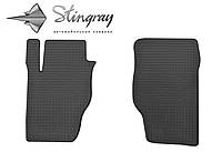 Резиновые коврики Stingray Стингрей КИА Соренто 2002-2009 Комплект из 2-х ковриков Черный в салон. Доставка по всей Украине. Оплата при получении