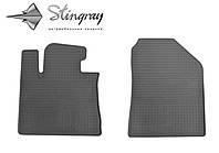 Резиновые коврики Stingray Стингрей КИА Соренто 2012-2015 Комплект из 2-х ковриков Черный в салон. Доставка по всей Украине. Оплата при получении