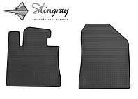 Резиновые коврики Stingray Стингрей КИА Соренто 2015- Комплект из 2-х ковриков Черный в салон. Доставка по всей Украине. Оплата при получении