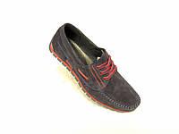 Кожаные мужские туфли конфорт Braxton замш