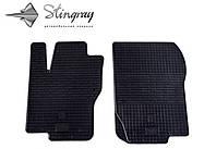 Резиновые коврики Stingray Стингрей Мерседес-Бенц мл W166 2011- Комплект из 2-х ковриков Черный в салон. Доставка по всей Украине. Оплата при