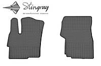 Резиновые коврики Мицубиси Лансер х 2008- Комплект из 2-х ковриков Черный в салон. Доставка по всей Украине. Оплата при получении