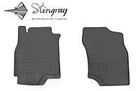 Резиновые коврики Stingray Стингрей Мицубиси Лансер ІХ 2004-2008 Комплект из 2-х ковриков Черный в салон. Доставка по всей Украине. Оплата при