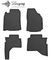 Резиновые коврики Мицубиси Паджеро Спорт 1996-2011 Комплект из 4-х ковриков Черный в салон