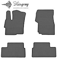 Резиновые коврики Stingray Стингрей Мицубиси Лансер х 2008- Комплект из 4-х ковриков Черный в салон. Доставка по всей Украине. Оплата при получении