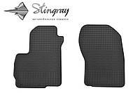 Резиновые коврики Stingray Стингрей Мицубиси Аутлендер ХЛ 2006-2012 Комплект из 2-х ковриков Черный в салон. Доставка по всей Украине. Оплата при