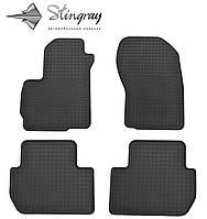 Резиновые коврики Stingray Стингрей Мицубиси Аутлендер ХЛ 2006-2012 Комплект из 4-х ковриков Черный в салон. Доставка по всей Украине. Оплата при