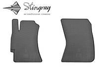 Резиновые коврики Субару Форестер 2008- Комплект из 2-х ковриков Черный в салон. Доставка по всей Украине. Оплата при получении
