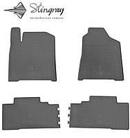 Резиновые коврики Stingray Стингрей Ссанг йонг Корандо 2011- Комплект из 4-х ковриков Черный в салон. Доставка по всей Украине. Оплата при получении