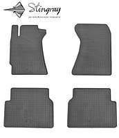 Резиновые коврики Субару Форестер 2002- Комплект из 4-х ковриков Черный в салон. Доставка по всей Украине. Оплата при получении