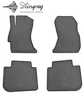 Резиновые коврики Субару Импреза 2012- Комплект из 4-х ковриков Черный в салон. Доставка по всей Украине. Оплата при получении