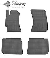 Резиновые коврики Stingray Стингрей Субару Импреза 2008- Комплект из 4-х ковриков Черный в салон. Доставка по всей Украине. Оплата при получении