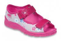 Детские польские текстильные тапочки-босоножки Befado MAX 969X092 р.25-30 для дома, улицы, в садик девочкам