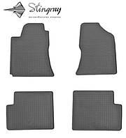 Резиновые коврики Тойота Королла Е120 2001- Комплект из 4-х ковриков Черный в салон. Доставка по всей Украине. Оплата при получении