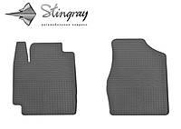 Резиновые коврики Stingray Стингрей Тойота Камри XV20 1997- Комплект из 2-х ковриков Черный в салон. Доставка по всей Украине. Оплата при получении