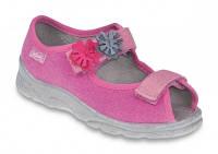 Детские польские текстильные тапочки-босоножки Befado MAX 969Y102 р.31-33 для дома, улицы, в садик девочкам