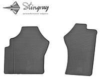 Резиновые коврики Stingray Стингрей Тойота Hiace 1995- Комплект из 2-х ковриков Черный в салон