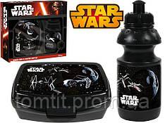 """Набор """"Star Wars (Звёздные войны)"""". Контейнер для завтрака (ланч бокс) + бутылка"""