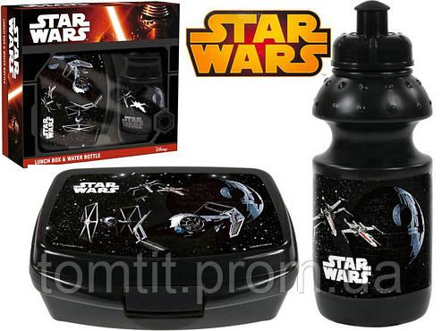 """Набор """"Star Wars (Звёздные войны - Звездолеты)"""" в коробке. Ланч бокс (ланчбокс) + бутылка, фото 2"""