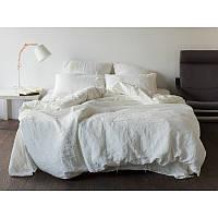 Постельное белье из льна, Белое, евро