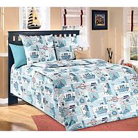 """Комплект постельного белья """"Кораблики"""", в кроватку"""