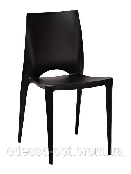Стул пластиковый черный