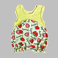"Песочник ""strawberry"" для девочки (кулир)"