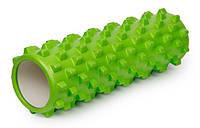Роллер массажный 45см (Grid Roller) салатовый